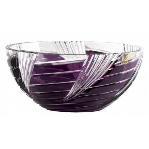 Crystal Bowl Whirl, color violet, diameter 250 mm
