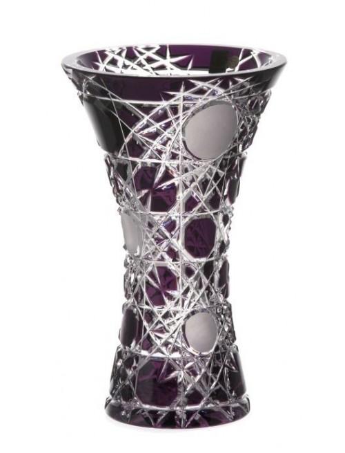 Crystal Vase Flake, color violet, height 255 mm