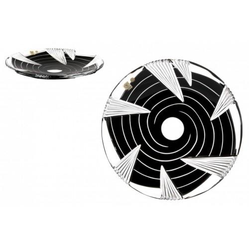 Crystal Plate Whirl, color black, diameter 300 mm