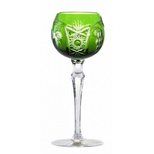 Crystal Wine Glass Nacht vine, color green, volume 170 ml