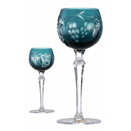 Crystal Wine Glass Nacht vine, color azure, volume 170 ml