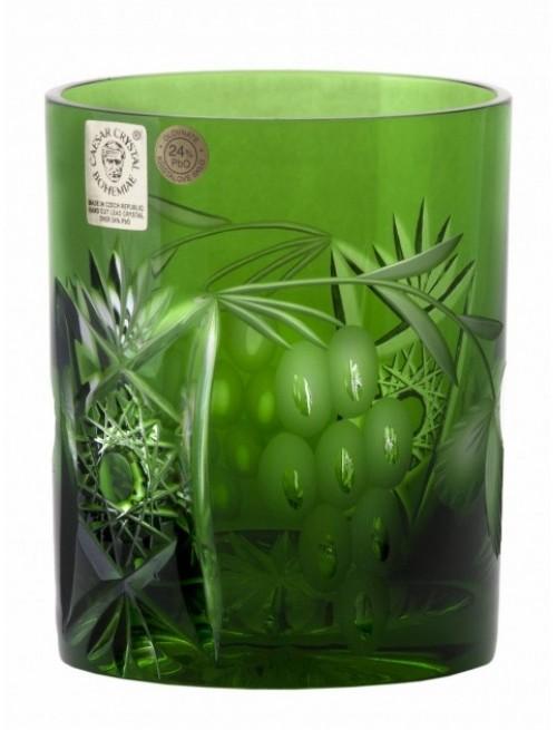 Crystal Glass Nacht vine, color green, volume 320 ml