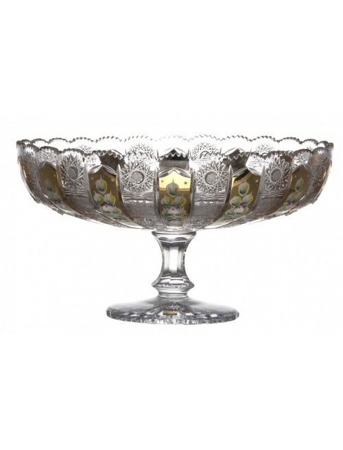 Crystal Footed Bowl 500K gold, color clear crystal, diameter 330 mm