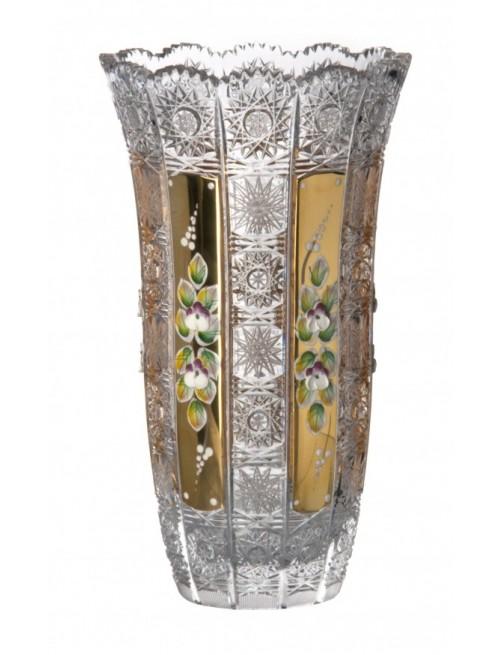 Crystal Vase 500K gold, color clear crystal, height 255 mm