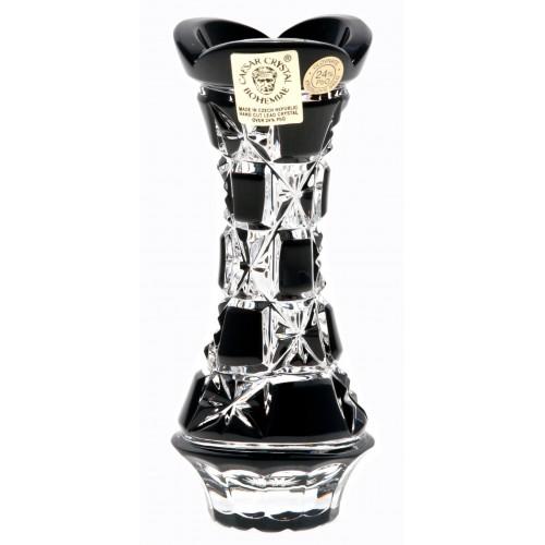 Crystal Vase Lada, color black, height 104 mm