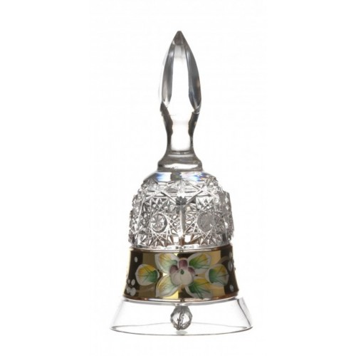Crystal Bell 500PK gold, color clear crystal, height 126 mm