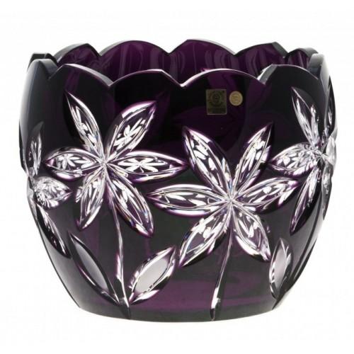 Crystal Bowl Linda, color violet, diameter 240 mm