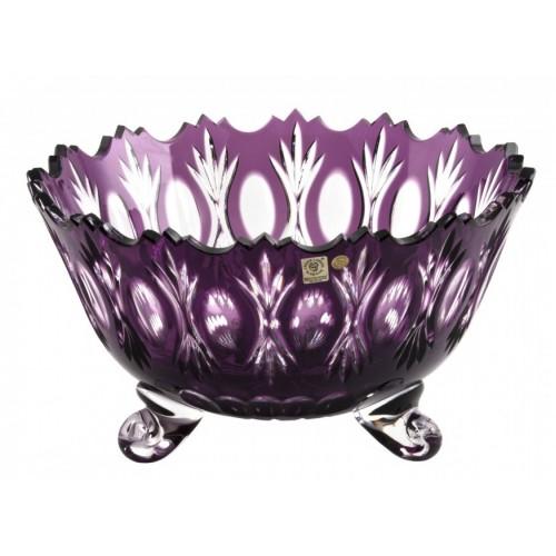 Crystal Bowl Dandelion, color violet, diameter 305 mm