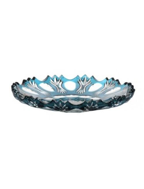 Crystal plate Dandelion, color azure, diameter 180 mm