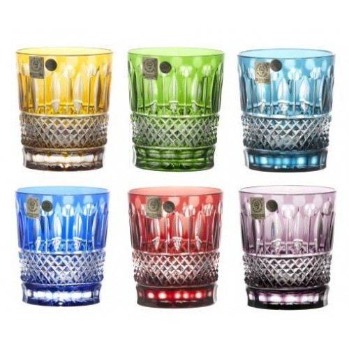 Crystal Set Glass Whisky Tomy, color mix