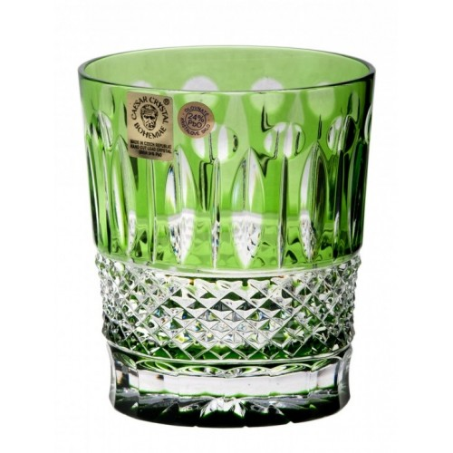Crystal Glass Tomy, color green, volume 290 ml