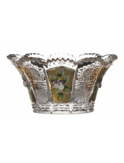 Crystal Bowl 500K gold, color clear crystal, diameter 122 mm