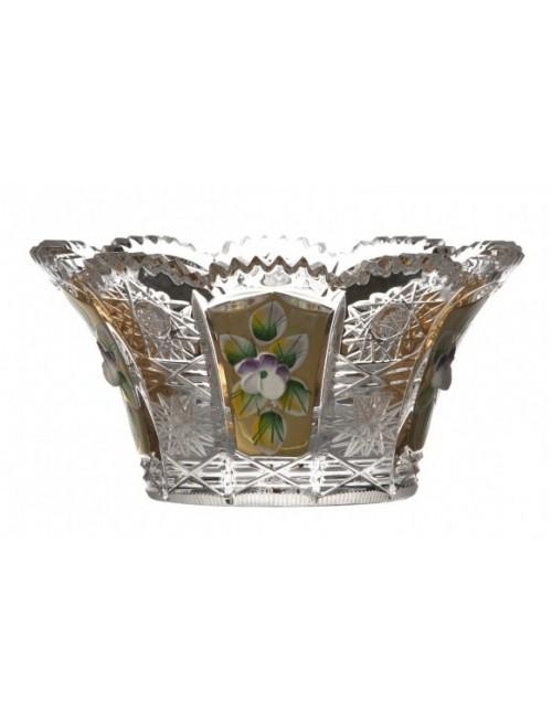 Crystal Bowl 500K gold, color clear crystal, diameter 122 mm