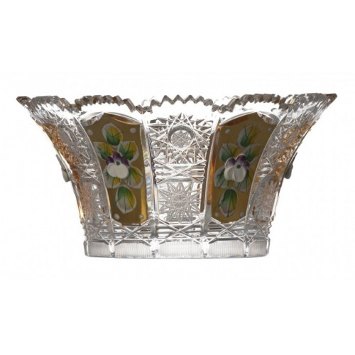 Crystal Bowl 500K gold V, color clear crystal, diameter 155 mm