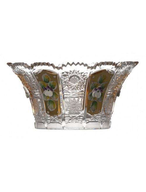Crystal Bowl 500K gold V, color clear crystal, diameter 155 mm