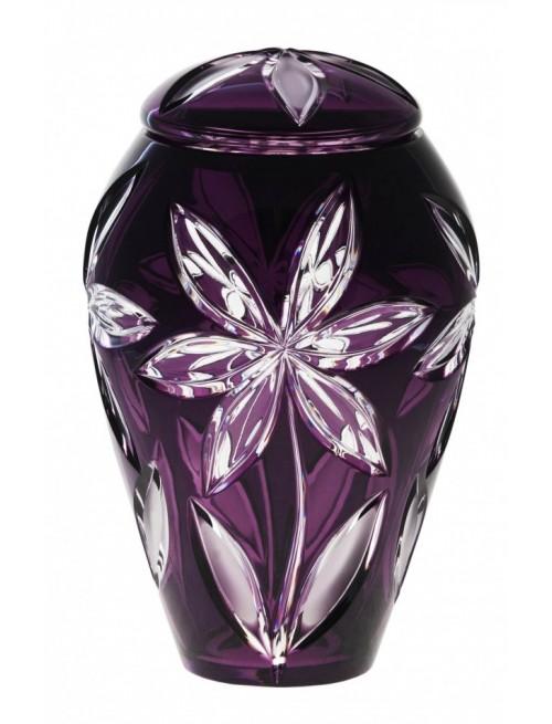 Crystal Urn Linda, color violet, height 290 mm