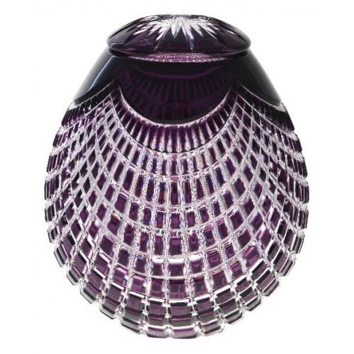 Crystal urn Quadrus, color violet, height 290 mm