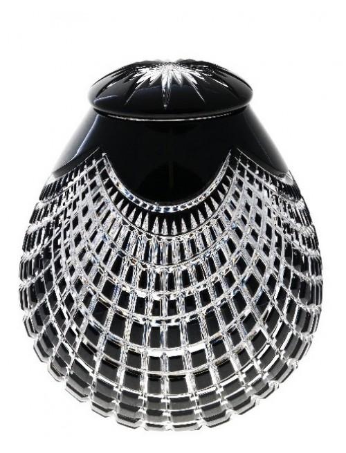 Crystal Urn Quadrus, color black, height 290 mm