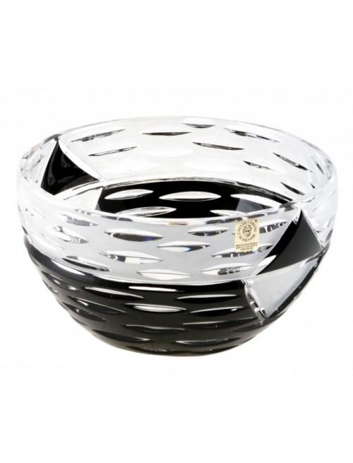 Crystal Bowl Mirage, color black, diameter 180 mm