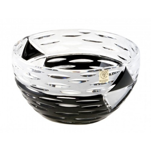 Crystal Bowl Mirage, color black, diameter 230 mm