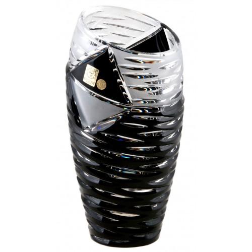 Crystal vase Mirage, color black, height 180 mm