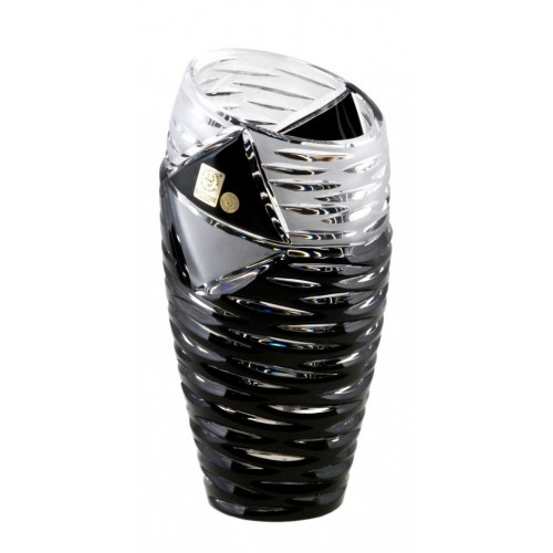 Crystal Vase Mirage, color black, height 230 mm