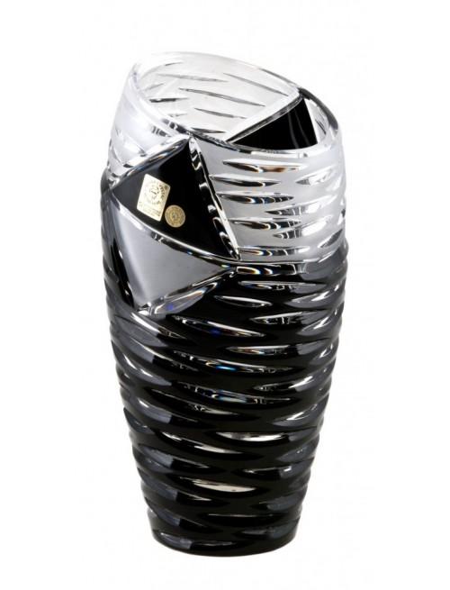 Crystal Vase Mirage, color black, height 230 mm