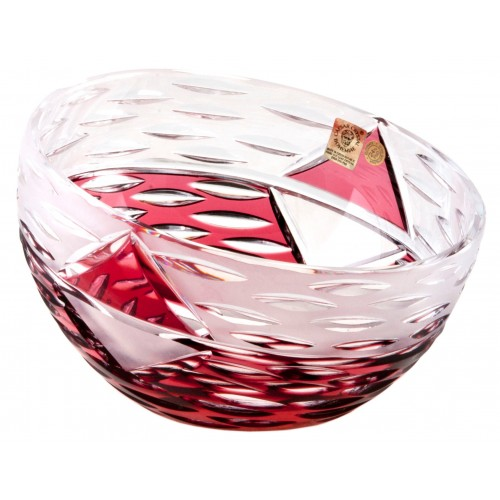 Crystal Bowl Mirage, color ruby, diameter 130 mm