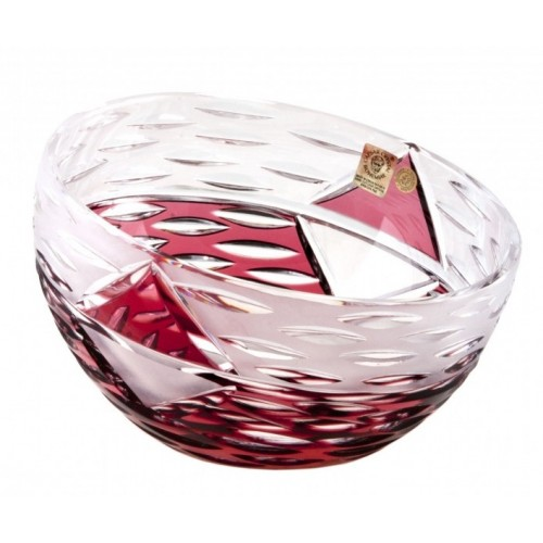 Crystal Bowl Mirage, color ruby, diameter 180 mm