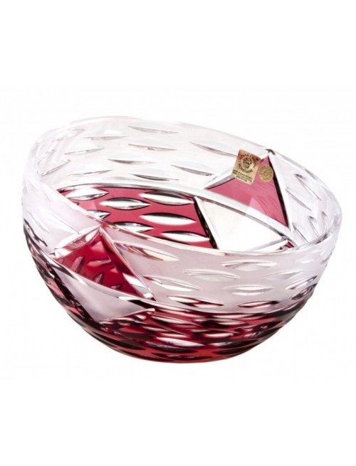 Crystal Bowl Mirage, color ruby, diameter 180 mm
