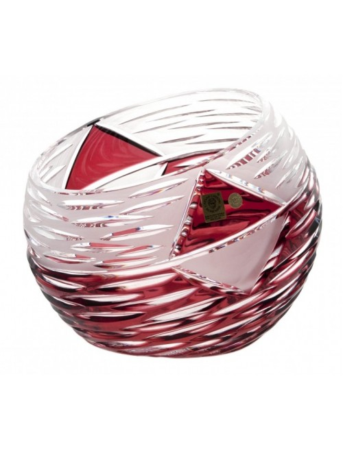 Crystal Vase Mirage, color ruby, height 200 mm