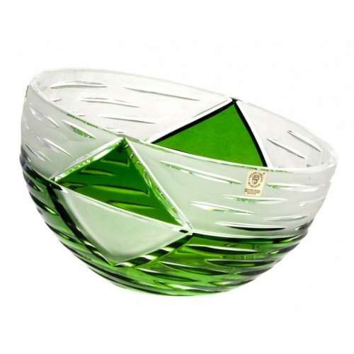 Crystal Bowl Mirage, color green, diameter 180 mm