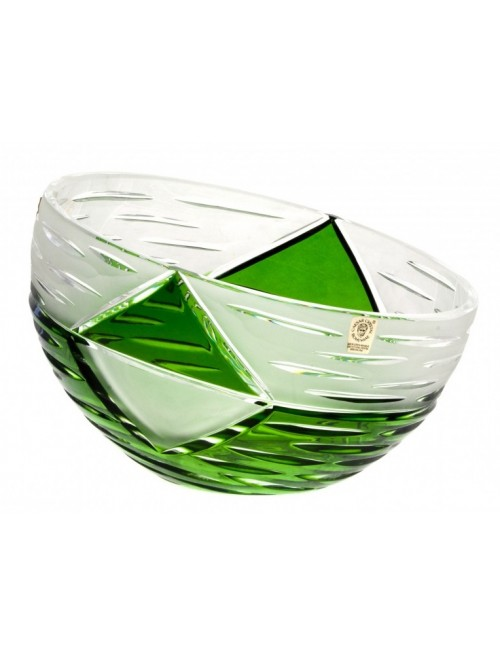 Crystal Bowl Mirage, color green, diameter 230 mm