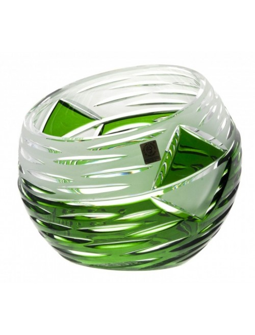 Crystal Vase Mirage, color green, height 200 mm