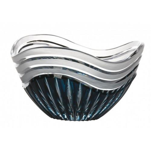 Crystal Bowl Dune, color azure, diameter 210 mm