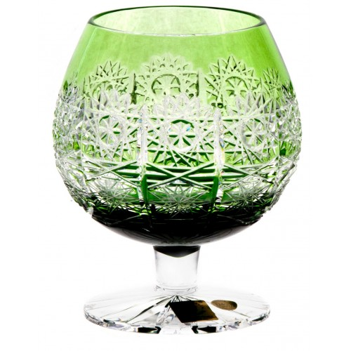 Crystal Glass Brandy Paula, color green, volume 300 ml