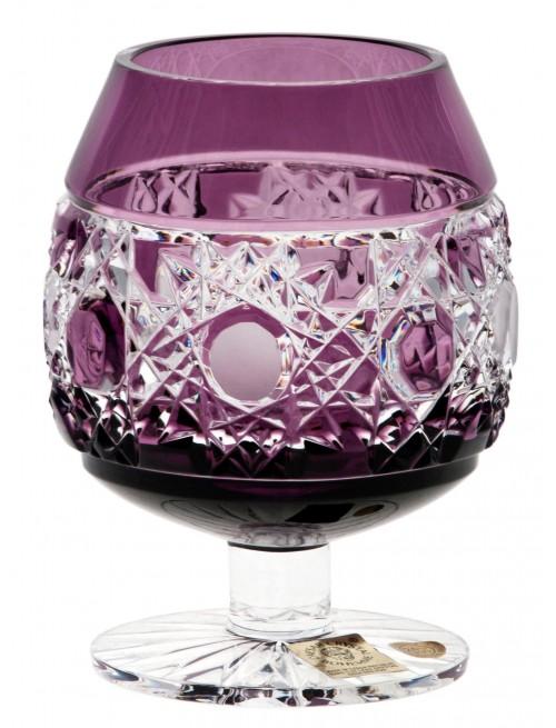 Crystal Glass Brandy Flake, color violet, volume 230 ml