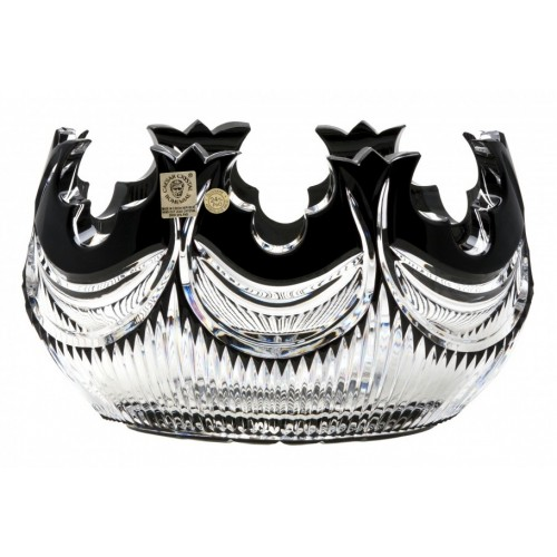 Crystal Bowl Diadem, color black, diameter 205 mm