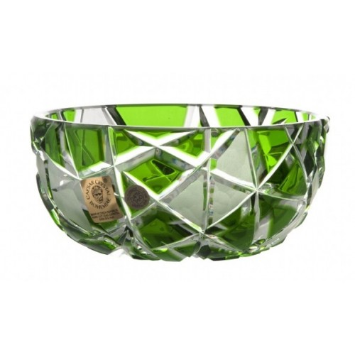 Crystal Bowl Mars, color green, diameter 116 mm