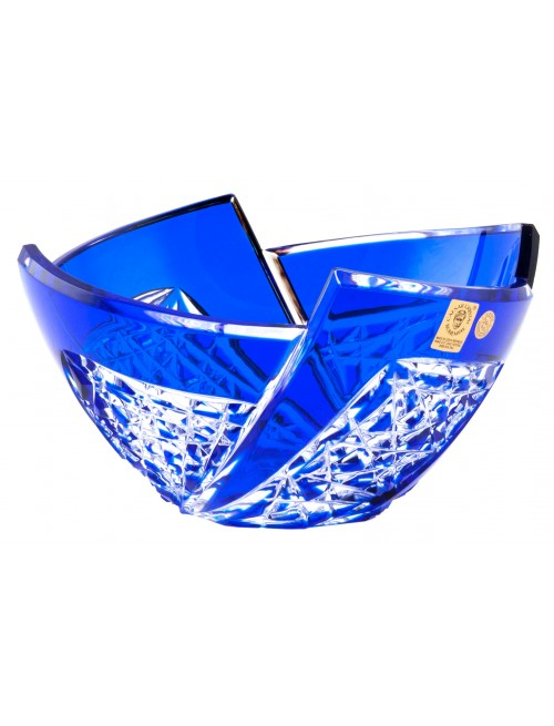 Crystal Bowl Fan, color blue, diameter 180 mm