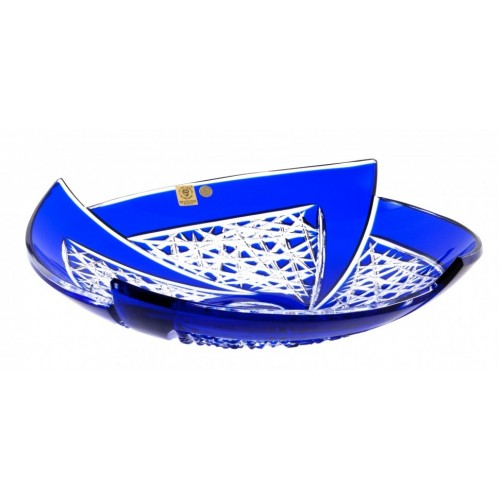 Crystal Bowl Fan, color blue, diameter 350 mm