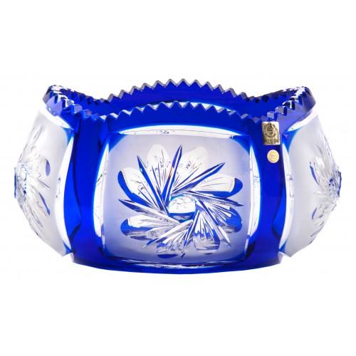 Crystal bowl Mill flatness, color blue, diameter 255 mm