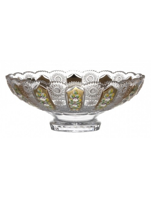 Crystal Bowl 500K gold, color clear crystal, diameter 305 mm
