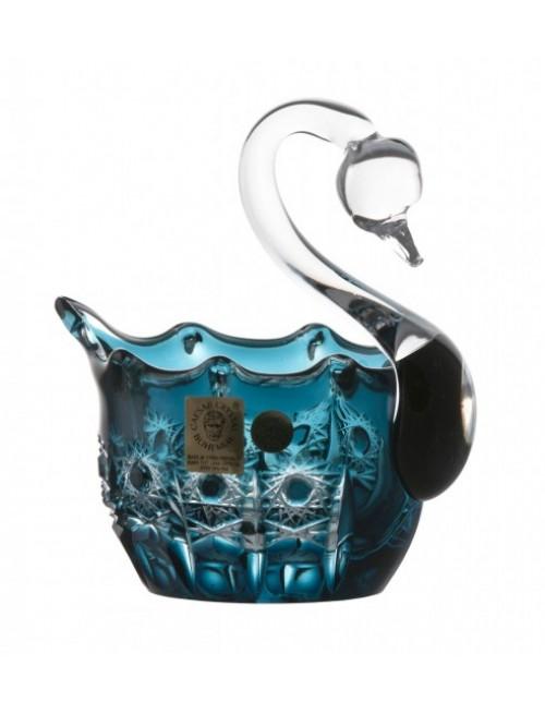 Crystal Swan Petra, color azure, diameter 80 mm