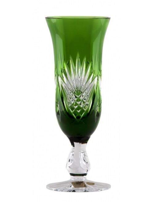Crystal Flute Janette, color green, volume 150 ml