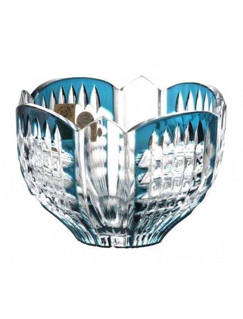 Crystal Bowl Akiko, color azure, diameter 110 mm