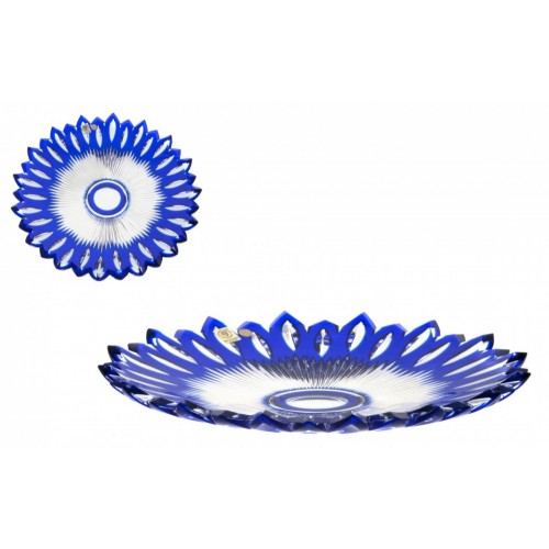 Crystal Plate Flame, color blue, diameter 300 mm