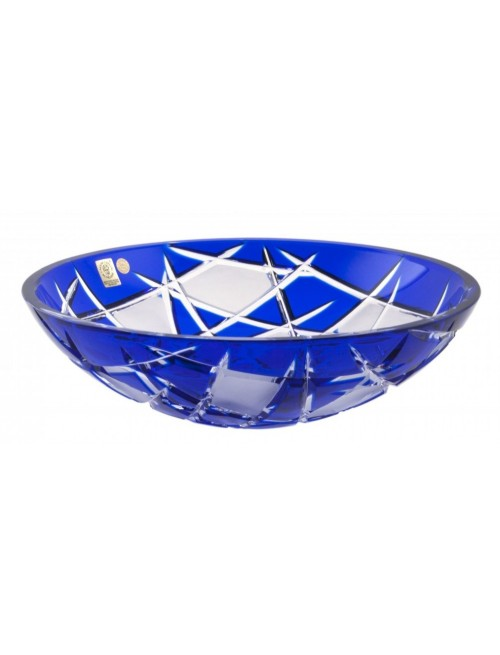 Crystal Bowl Mars, color blue, diameter 280 mm