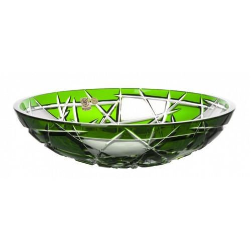 Crystal Bowl Mars, color green, diameter 280 mm