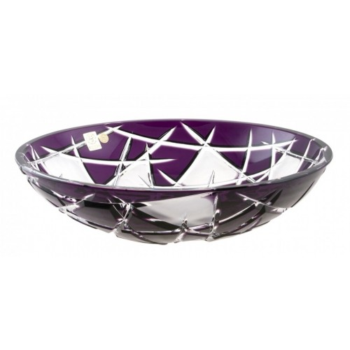 Crystal Bowl Mars, color violet, diameter 280 mm